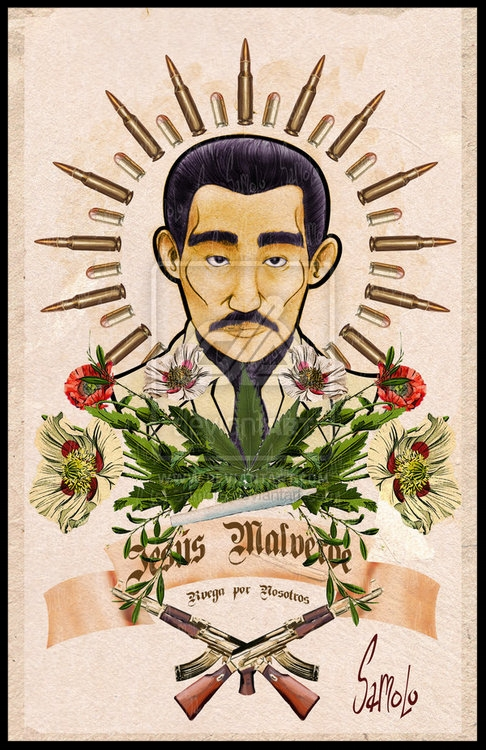 Jesus Malverde: patron saint of drug dealers . source: Samolo; Pinterest