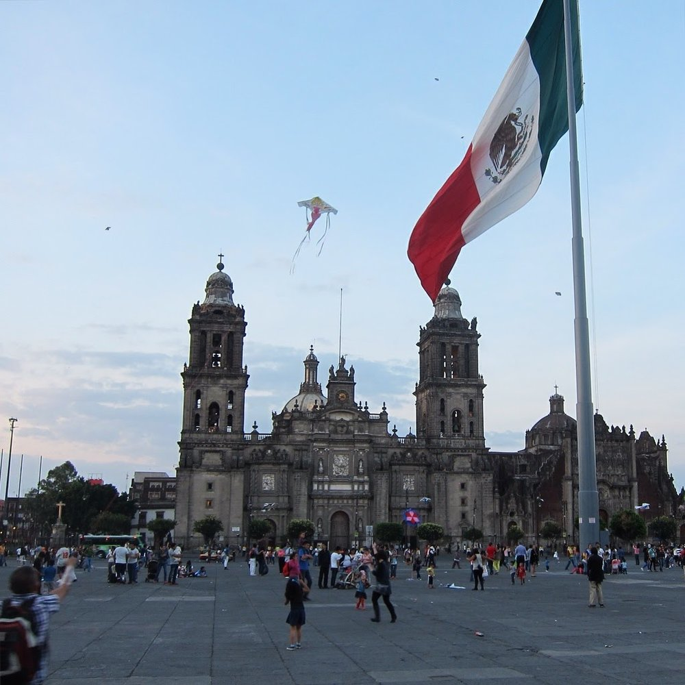 The famous Mexico City Metropolitan Cathedral.