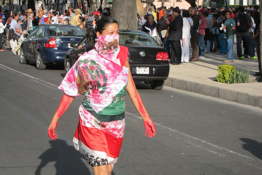 I was in Mexico a few months after the Ayotzinapa mass kidnapping. I attended three protests and snapped some photos.