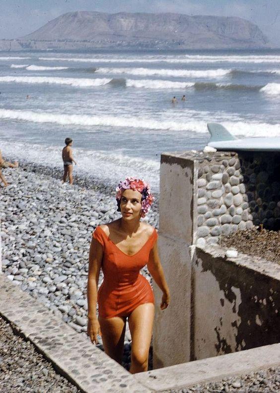 Miss Peru, 1953. Photo by Dmitri Kessel.