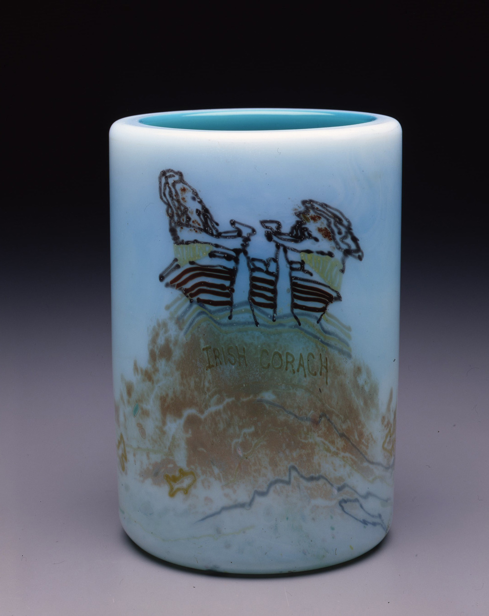 Dale Chihuly,  Irish Cylinder #10   (1975, glass, 8 1/2 x 5 1/2 inches), DC.272