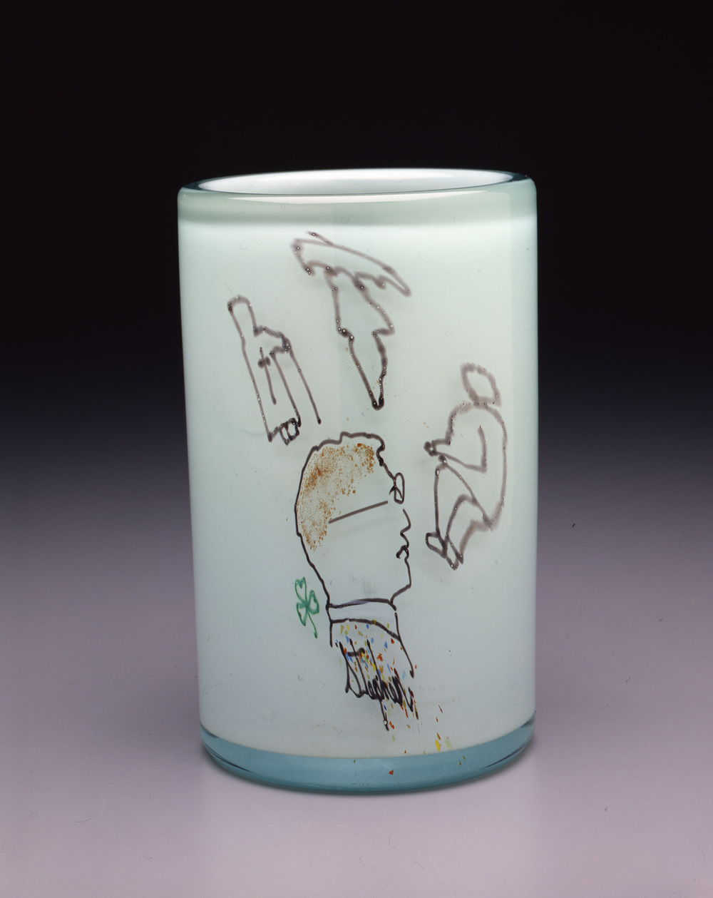 Dale Chihuly,  Irish Cylinder #13   (1975, glass, 9 1/2 x 5 1/2 inches), DC.275