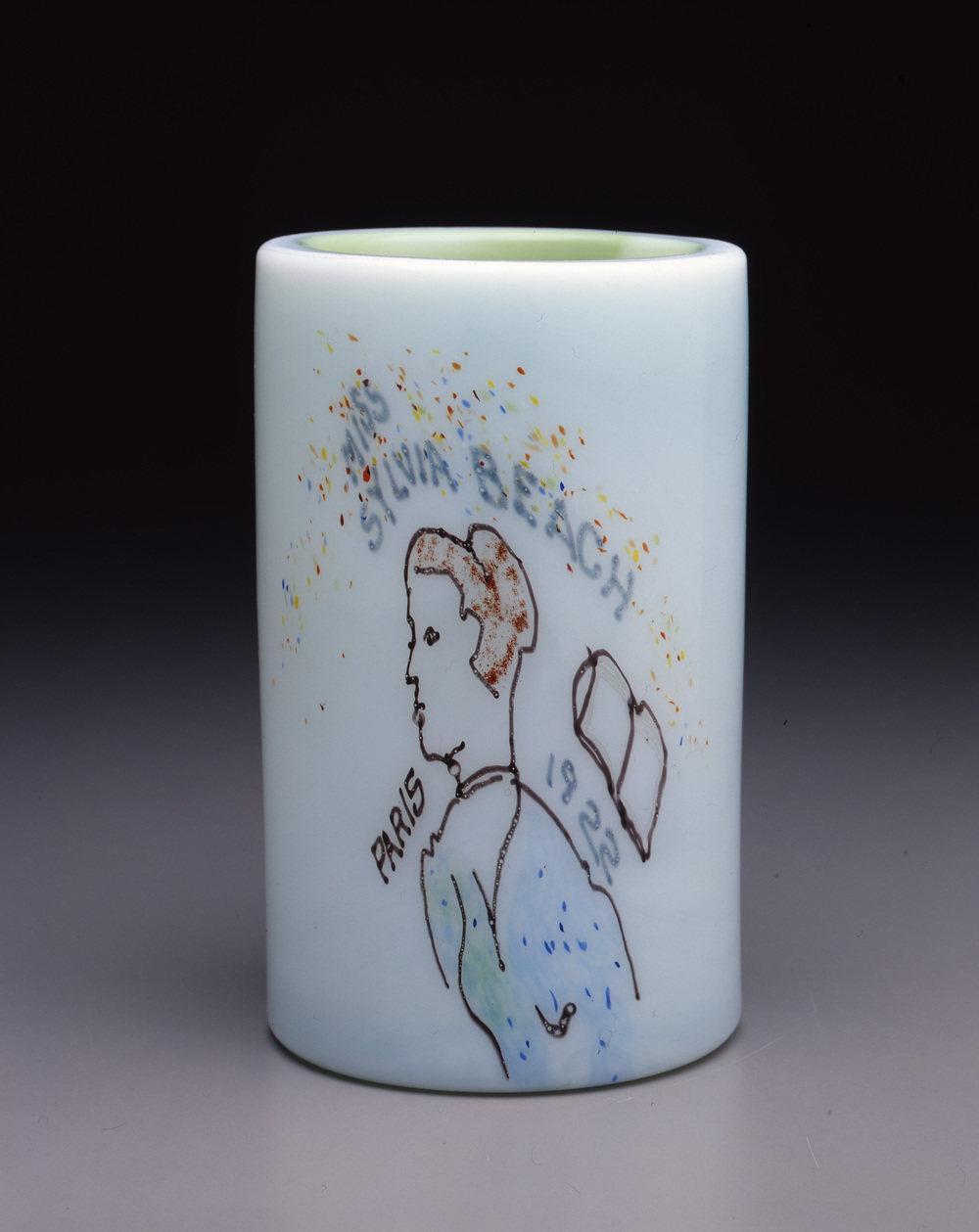 Dale Chihuly,  Irish Cylinder #14   (1975, glass, 9 x 5 inches), DC.276