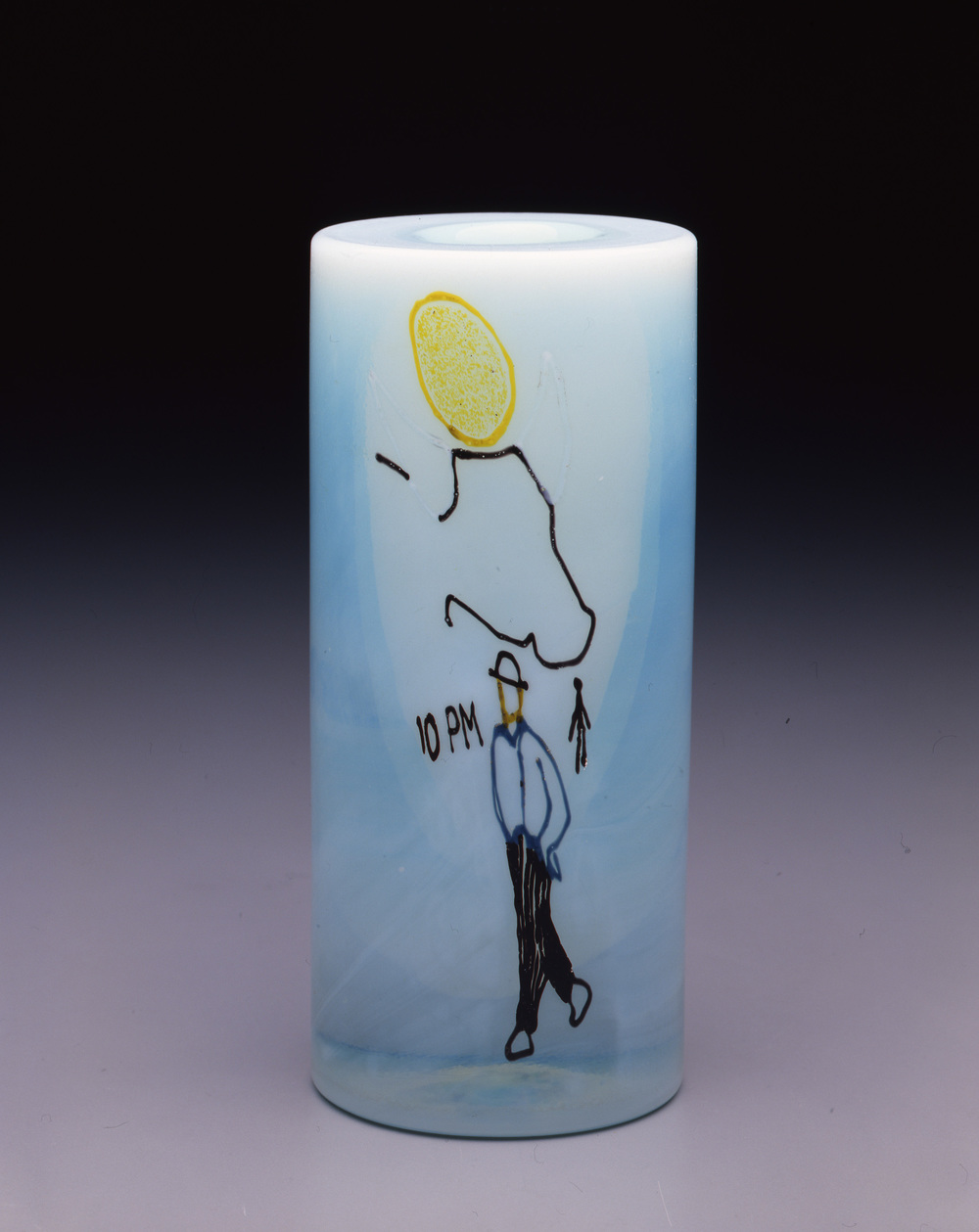 Dale Chihuly,  Irish Cylinder #17   (1975, glass, 7 x 3 inches), DC.279