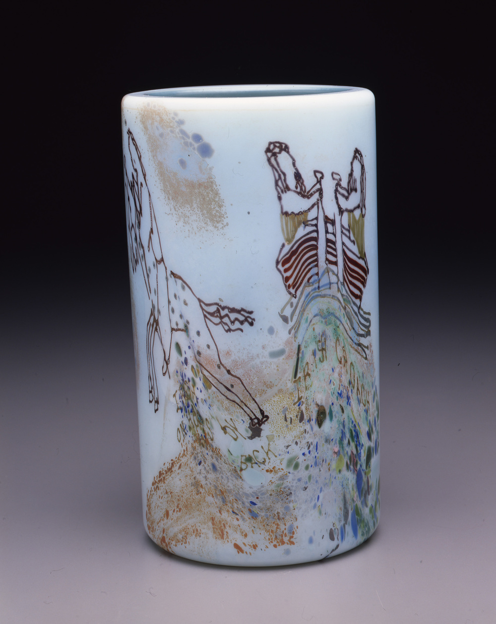 Dale Chihuly,  Irish Cylinder #34  (1975, glass, 10 x 5 1/2 inches), DC.296