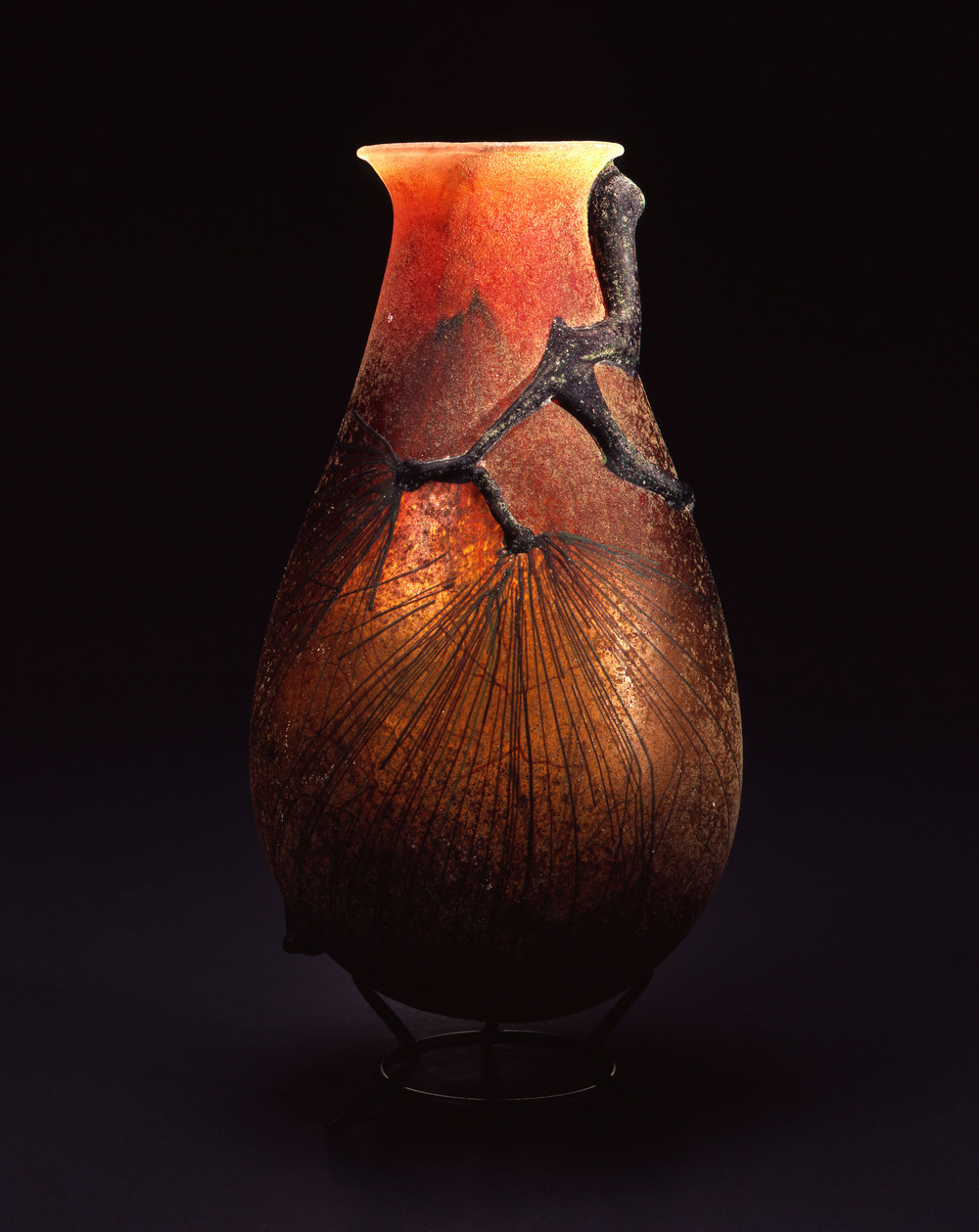 William Morris,  Vase with Ponderosa Pine Boughs  (2004, glass, 14 x 6 3/4 x 6 3/4 inches), WM.42