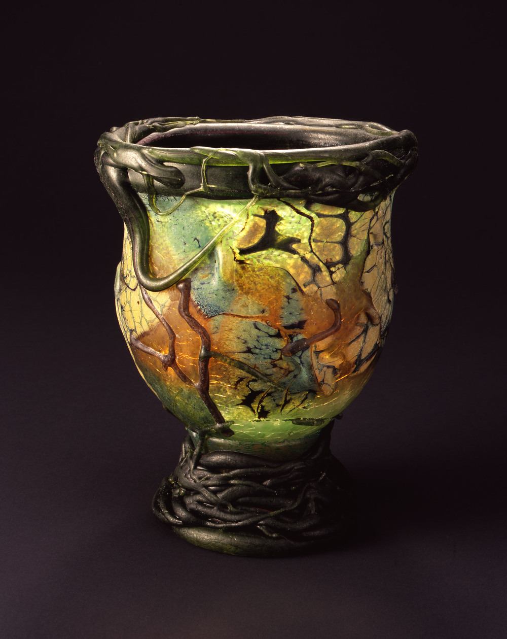 William Morris,  Footed Dragonfly Bowl    (2004, glass, 9 3/4 x 7 5/8 x 8 inches), WM.51