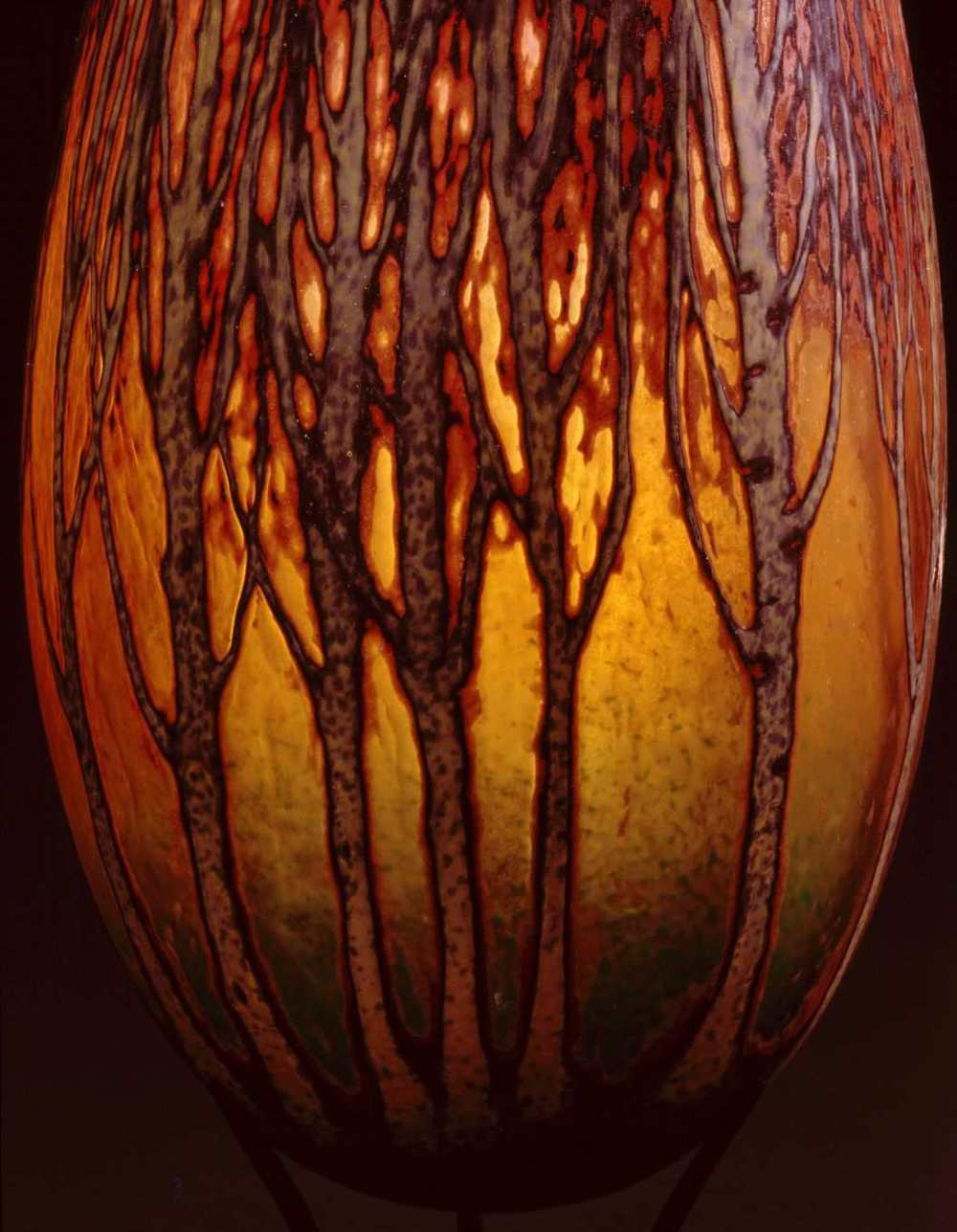 Detail - William Morris,  Vase with Poplar Tree Grove    (2004, glass, 15 x 7 1/8 x 7 1/8 inches), WM.33