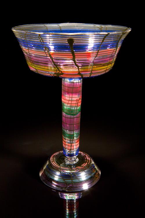Lino Tagliapietra,  Notte del Redentore  Goblet (1991-1994, glass, 7 1/8 x 5 1/4 x 5 1/4inches), LT.25
