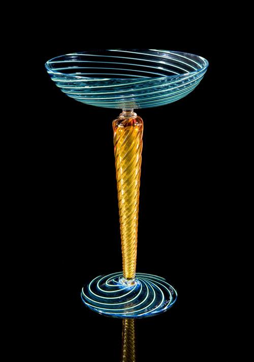 Lino Tagliapietra, Goblet (1991-1994, glass, 8 7/8 x 5 3/4 x 5 3/4 inches), LT.38