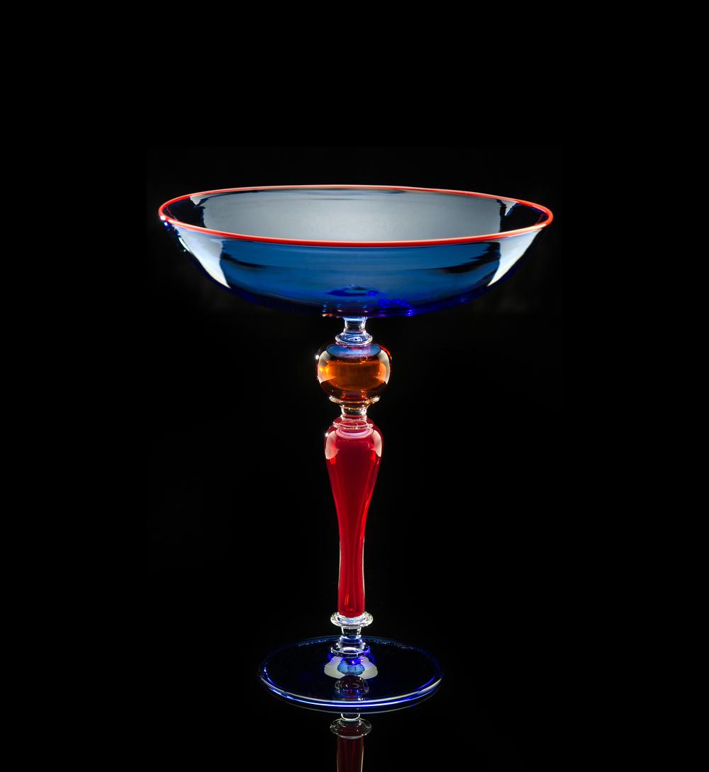 Lino Tagliapietra, Goblet (1991-1994, glass, 8 1/8 x 6 5/8 x 6 5/8 inches), LT.42