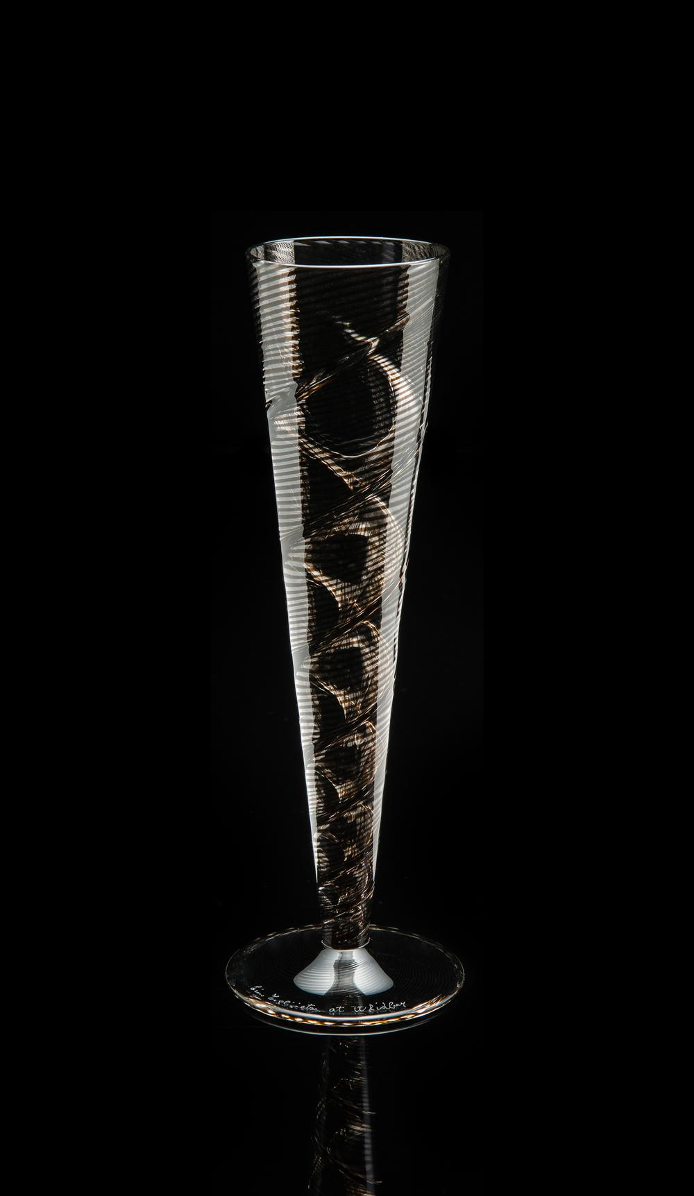 Lino Tagliapietra, Goblet (1991-1994, glass, 9 1/2 x 3 1/4 x 3 1/4inches), LT.71