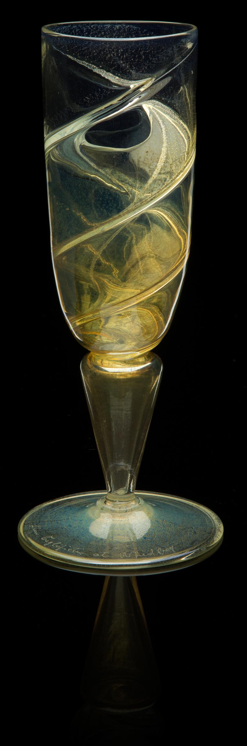 Lino Tagliapietra, Goblet (1991-1994, glass, 8 x 3 1/4 x 3 1/4inches), LT.81