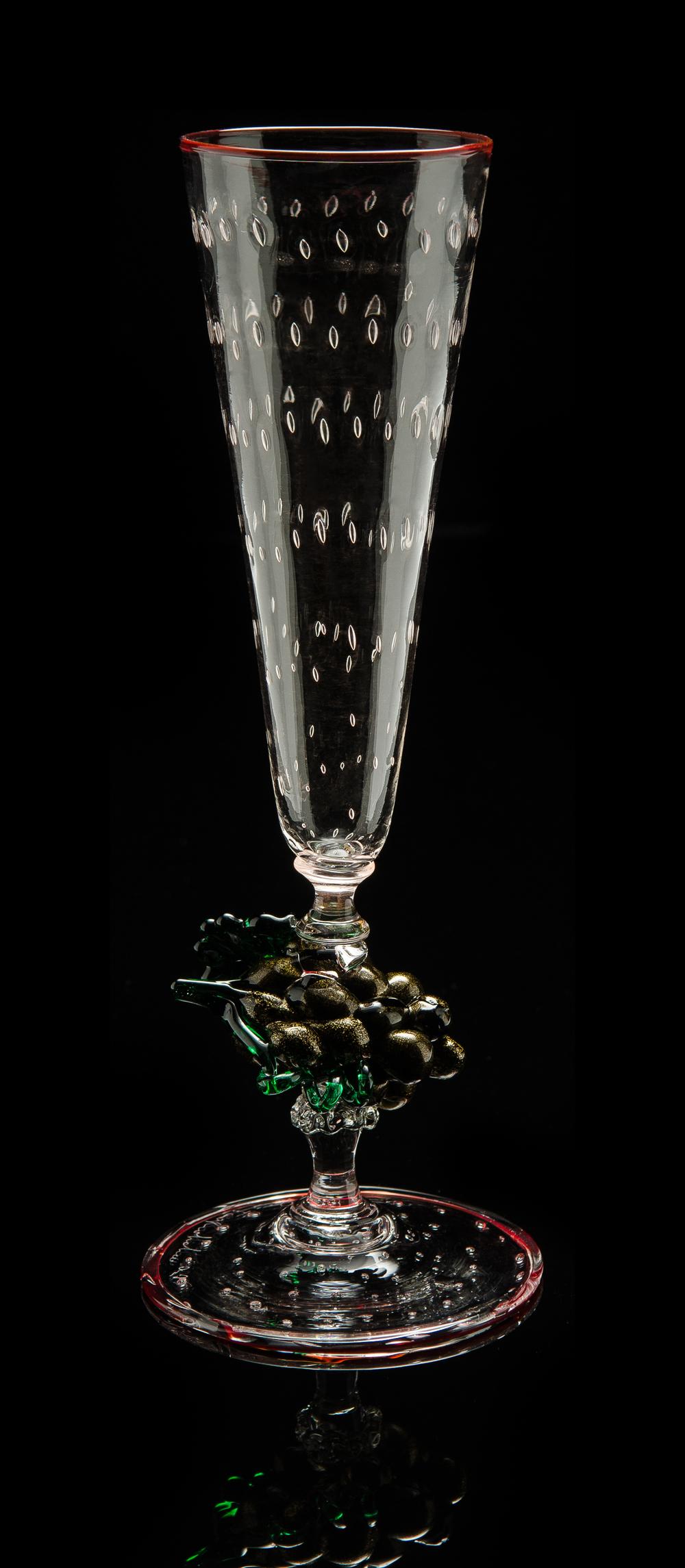 Lino Tagliapietra, Goblet (1991-1994, glass, 10 x 3 3/4 x 3 3/4inches), LT.86