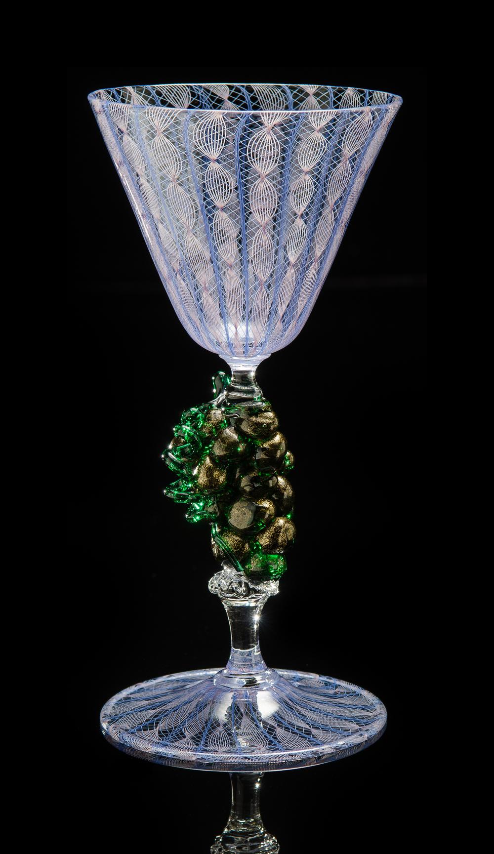 Lino Tagliapietra, Goblet (1991-1994, glass, 7 3/4 x 3 3/4 x 3 3/4 inches), LT.87