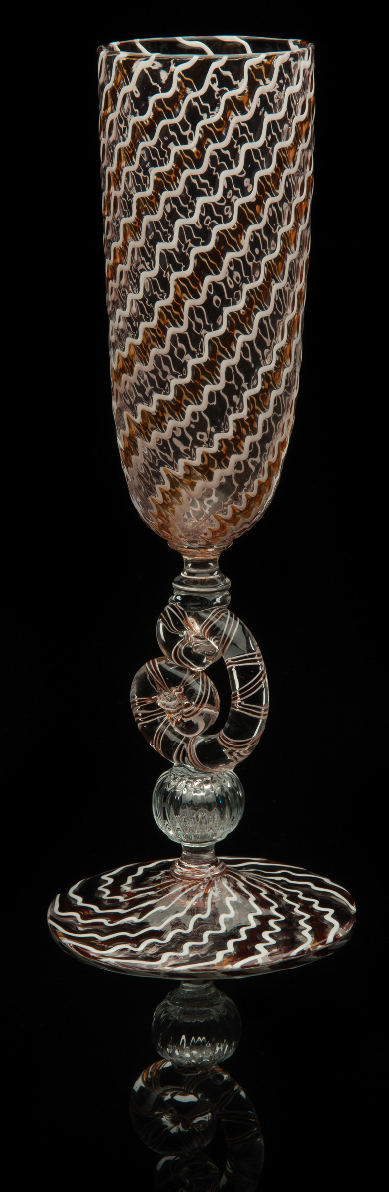 Lino Tagliapietra,  C-stem   Goblet  (1991-1994, glass, 9 x 3 1/4 x 3 1/4 inches), LT.73