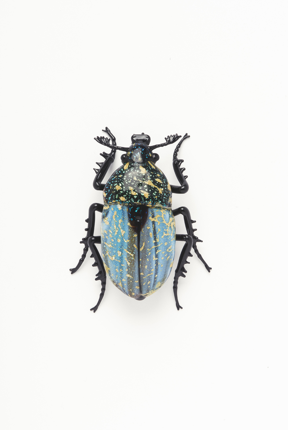 "Vittorio Costantini,  Family: Chrysomelidae, ""Chrysochus Auratus""  (2005, soda-lime glass, 1 3/4 x 1 7/16 x 5/8 inches), VC.2"