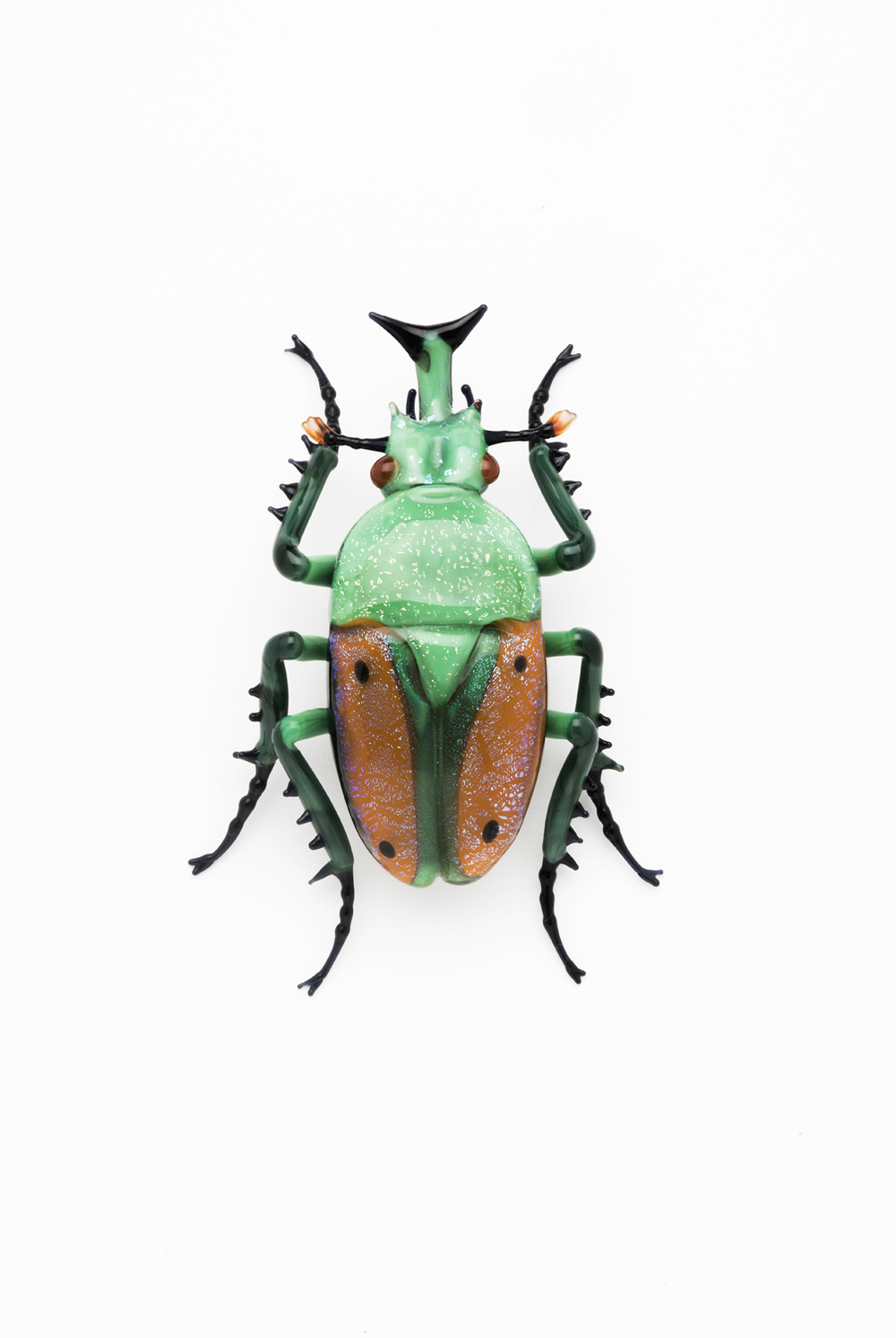 Vittorio Costantini,  Family: Scarabaeidae, Sub Family: Cetoniinae  (2005, soda-lime glass, 1 15/16 x 1 1/2 x 9/16 inches), VC.21