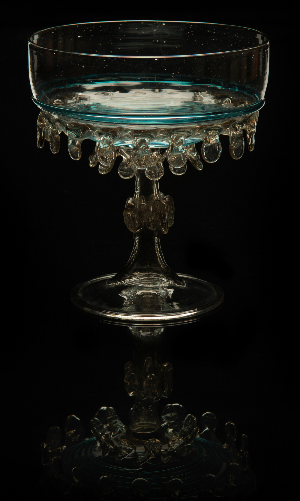 Salviati and Company,  Teardrop Compote  (circa 1885, glass, 5 1/2 x 5 x 5 inches), VV.578