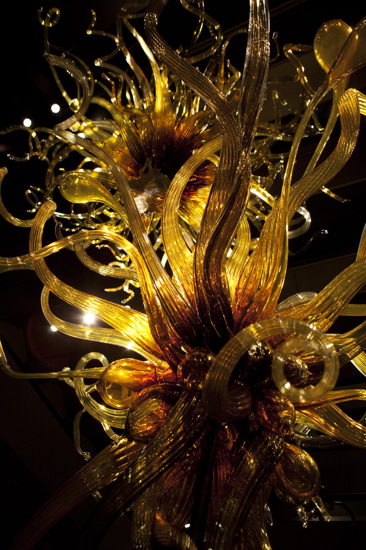 Dale Chihuly,   Laguna Murano Chandelier   (Museum of Glass, Tacoma, Washington)