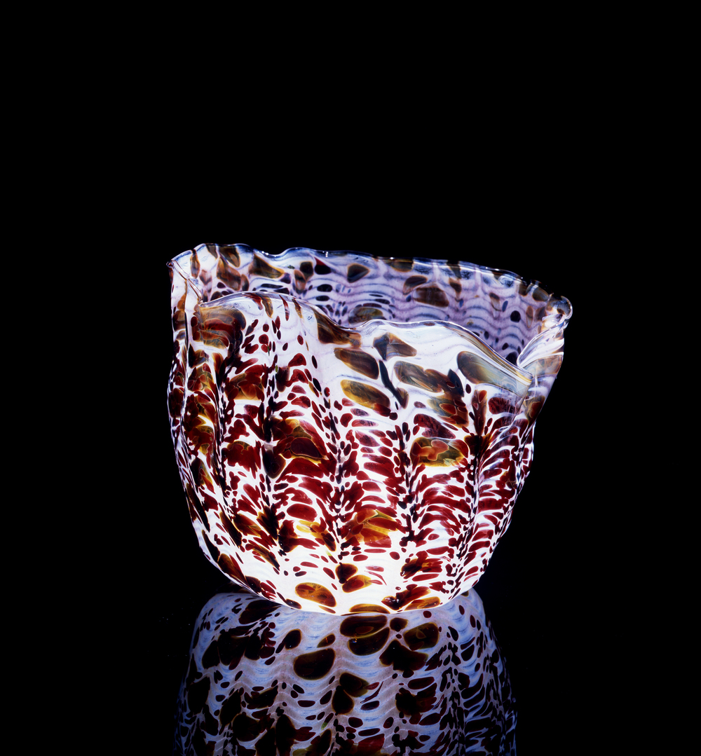 Dale Chihuly,  Abalone and Crimson Spotted Macchia    (1982, glass, 7 x 9 x 9 inches), DC.64