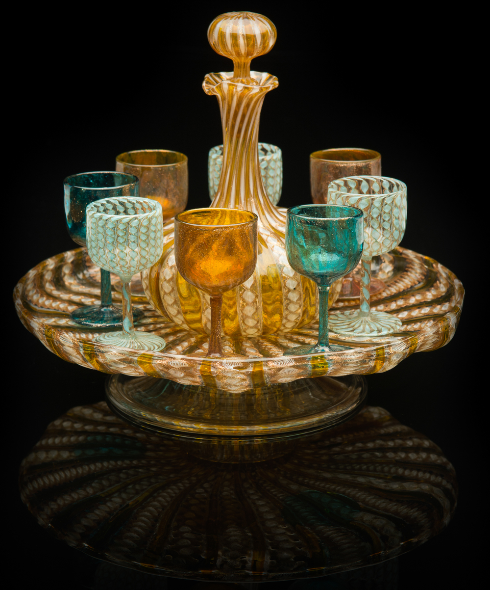 Salviati and Company,  Alzata Set  (circa 1885, glass), VV.585.1-.10