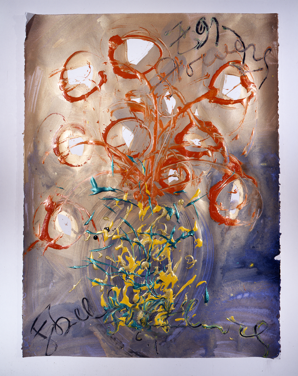 Dale Chihuly,  Ebeltoft Drawing,  (1991, mixed media on paper, 30 x 22 inches), DC.352