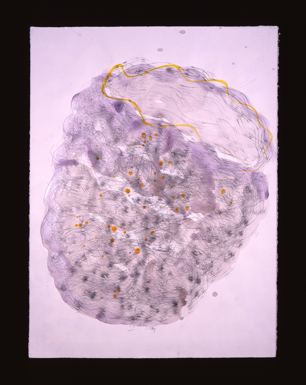 Dale Chihuly,  Basket Drawing,  (1984, watercolor, graphite, ink and colored pencil on paper, 30 x 22 inches), DC.367