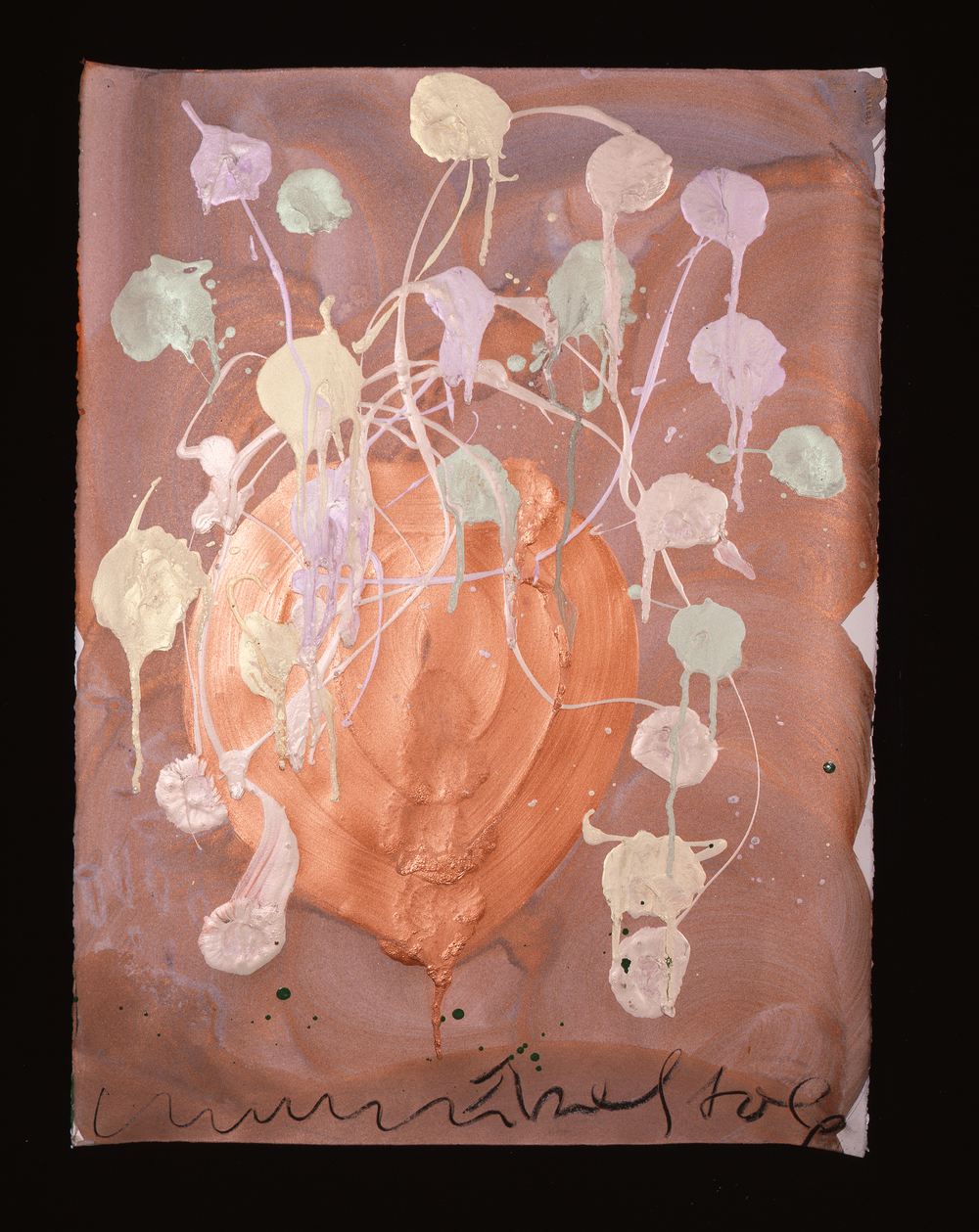 Dale Chihuly,  Ebeltoft Drawing,  (1991, mixed media on paper, 30 x 22 inches),DC.370