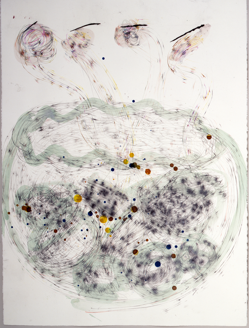 Dale Chihuly,  Niijima Drawing,  (watercolor, charcoal, colored pencil and graphite on paper, 30 x 22 inches), DC.372