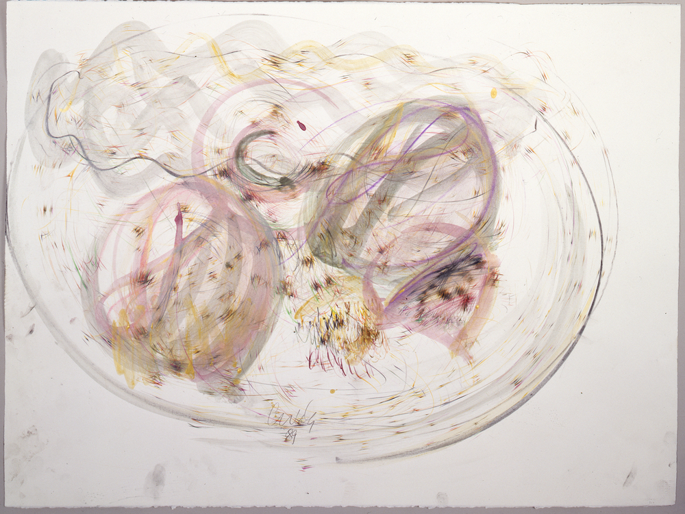 Dale Chihuly,  Niijima Drawing #31,  (1989, colored pencil, watercolor and graphite on paper, 22 x 30 inches), DC.373