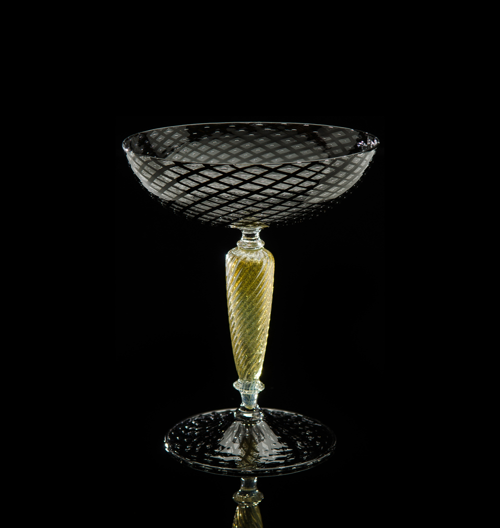 Lino Tagliapietra, Goblet (1991-1994, glass, 6 1/8 x 5 1/8 x 5 1/8inches), LT.6