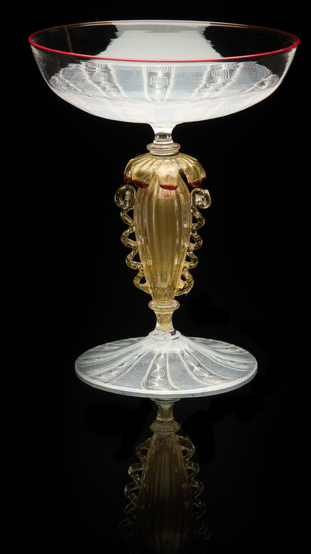Lino Tagliapietra, Goblet (1991-1994, glass, 6 1/4 x 5 1/16 x 5 1/16 inches), LT.15