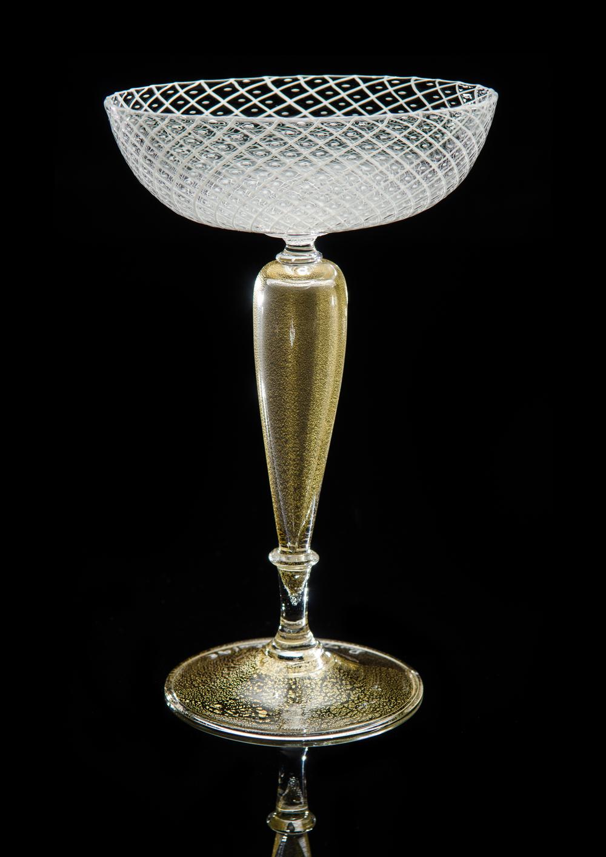 Lino Tagliapietra, Goblet (1991-1994, glass, 7 3/16 x 4 5/8 x 4 5/8 inches), LT.23