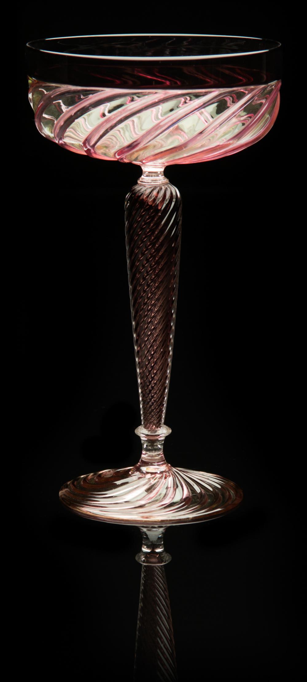 Lino Tagliapietra, Goblet, (1991-1994, glass, 8 9/16 x 4 13/16 x 4 13/16 inches), LT.40