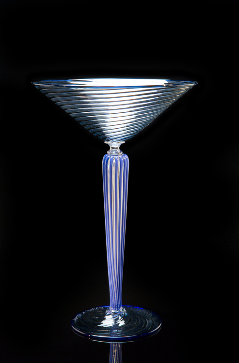 Lino Tagliapietra, Goblet, (1991-1994, glass, 9 7/8 x 6 11/16 x 6 11/16 inches), LT.41