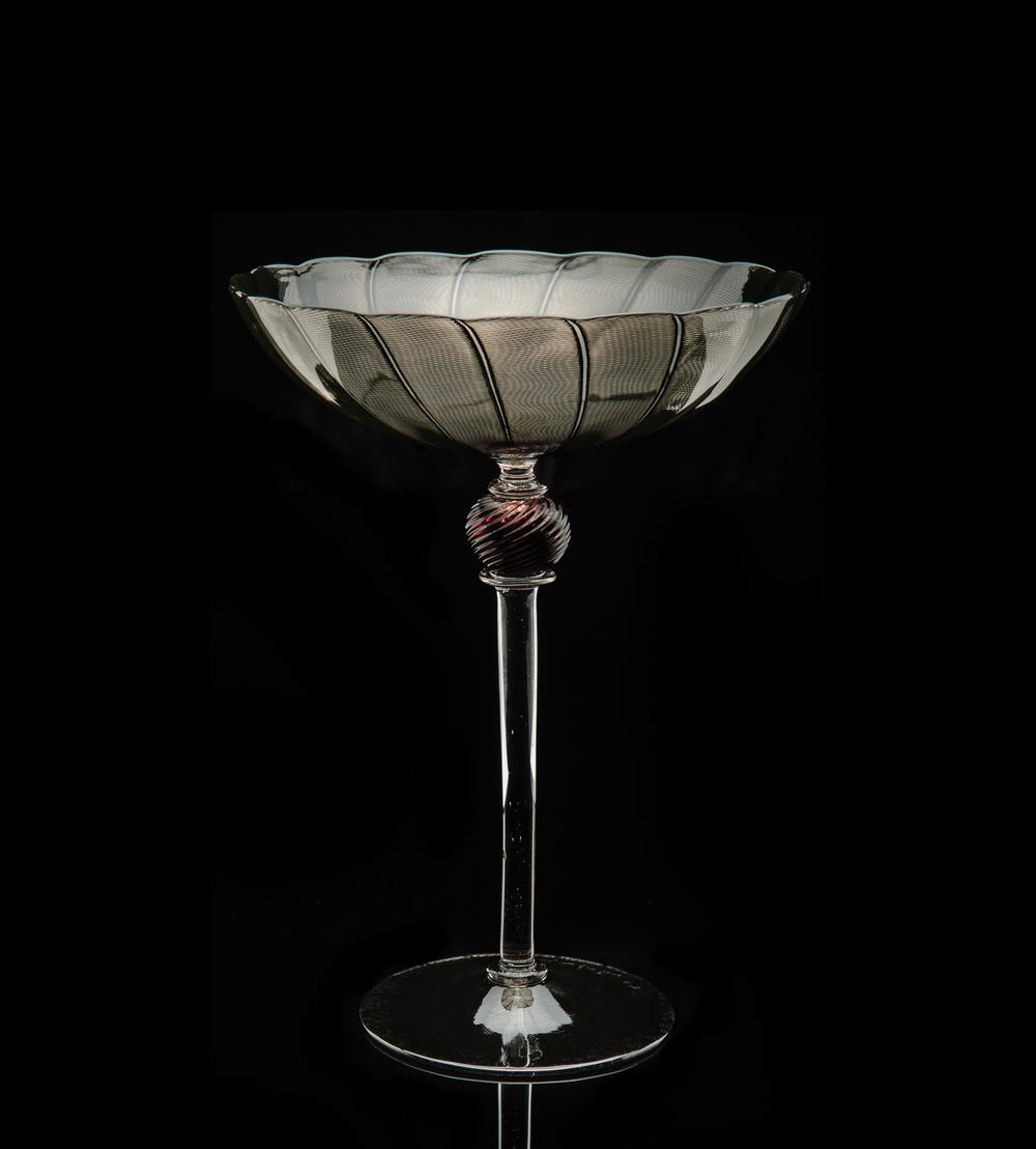 Lino Tagliapietra, Goblet, (1991-1994, glass, 8 7/8 x 6 11/16 x 6 11/16 inches), LT.43