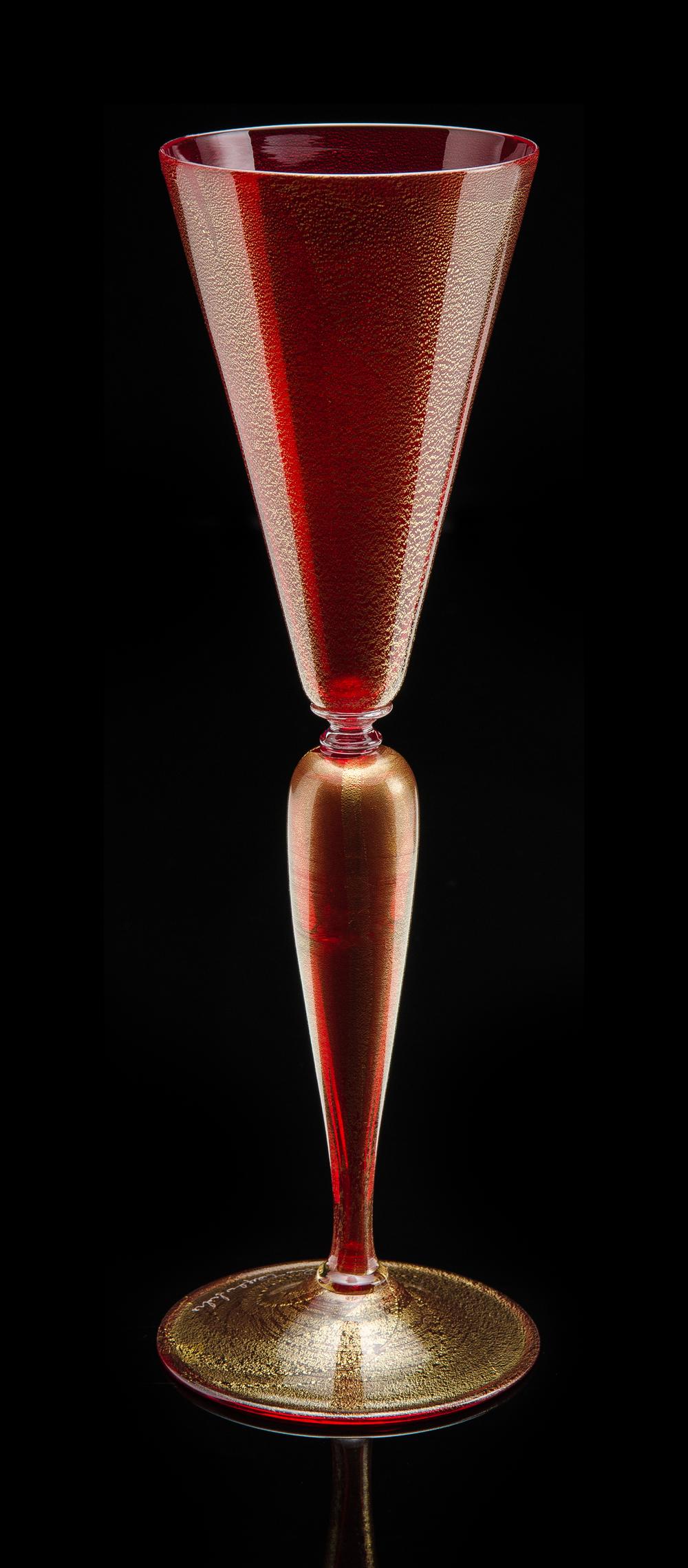 Lino Tagliapietra, Goblet (1991-1994, glass, 10 1/4 x 3 1/4 x 3 1/4 inches), LT.76
