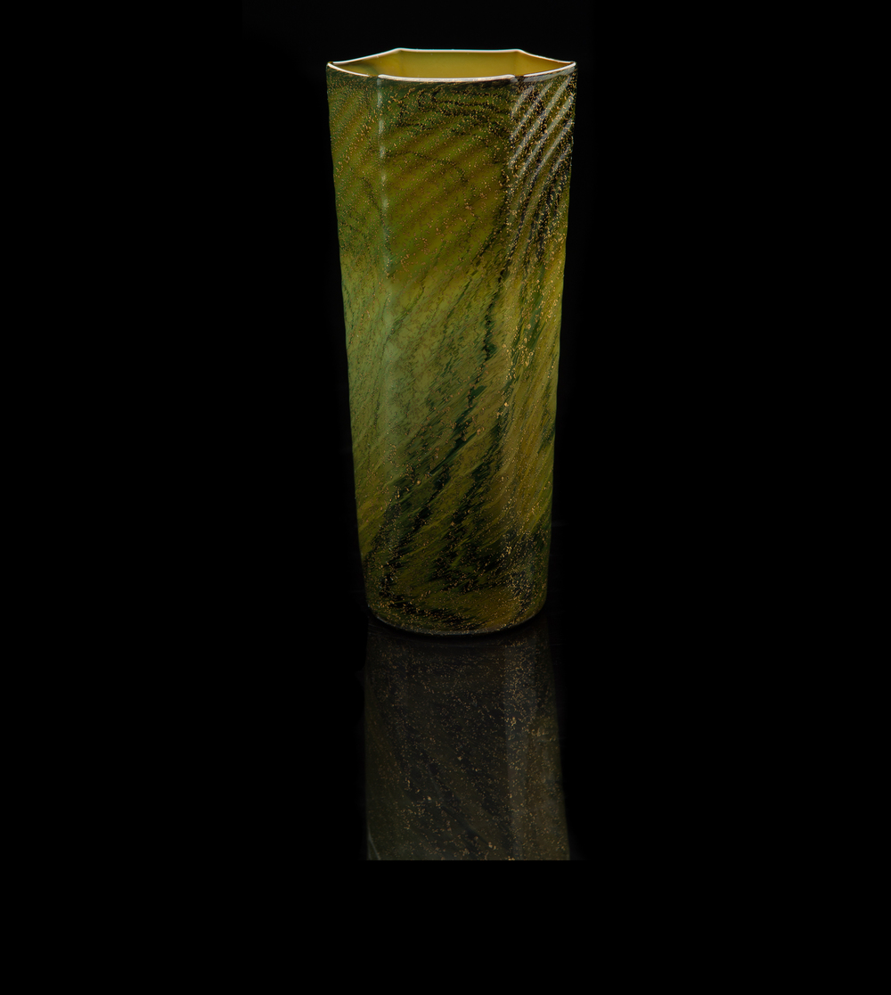 Salviati and Company,  Chalcedony Six-sided Tumbler  (circa 1900, glass, 5 1/2 inches), VV.463