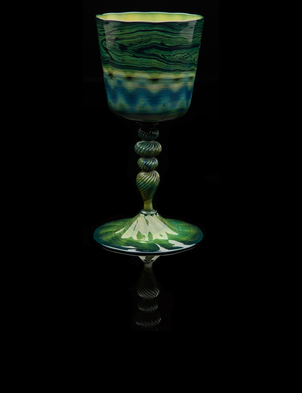 Barovier for Salviati,  Chalcedony Goblet  (glass, 7 x 3 1/4 x 3 1/4 inches), VV.495