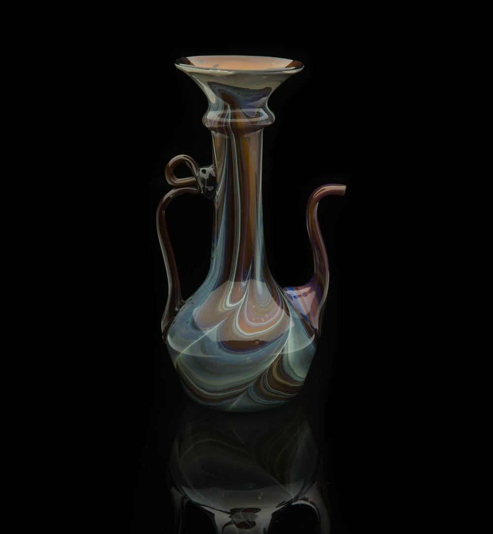 Lorenzo Radi, Chalcedony Ewer (1850-1900, glass, 8 7/16 inches), VV.363