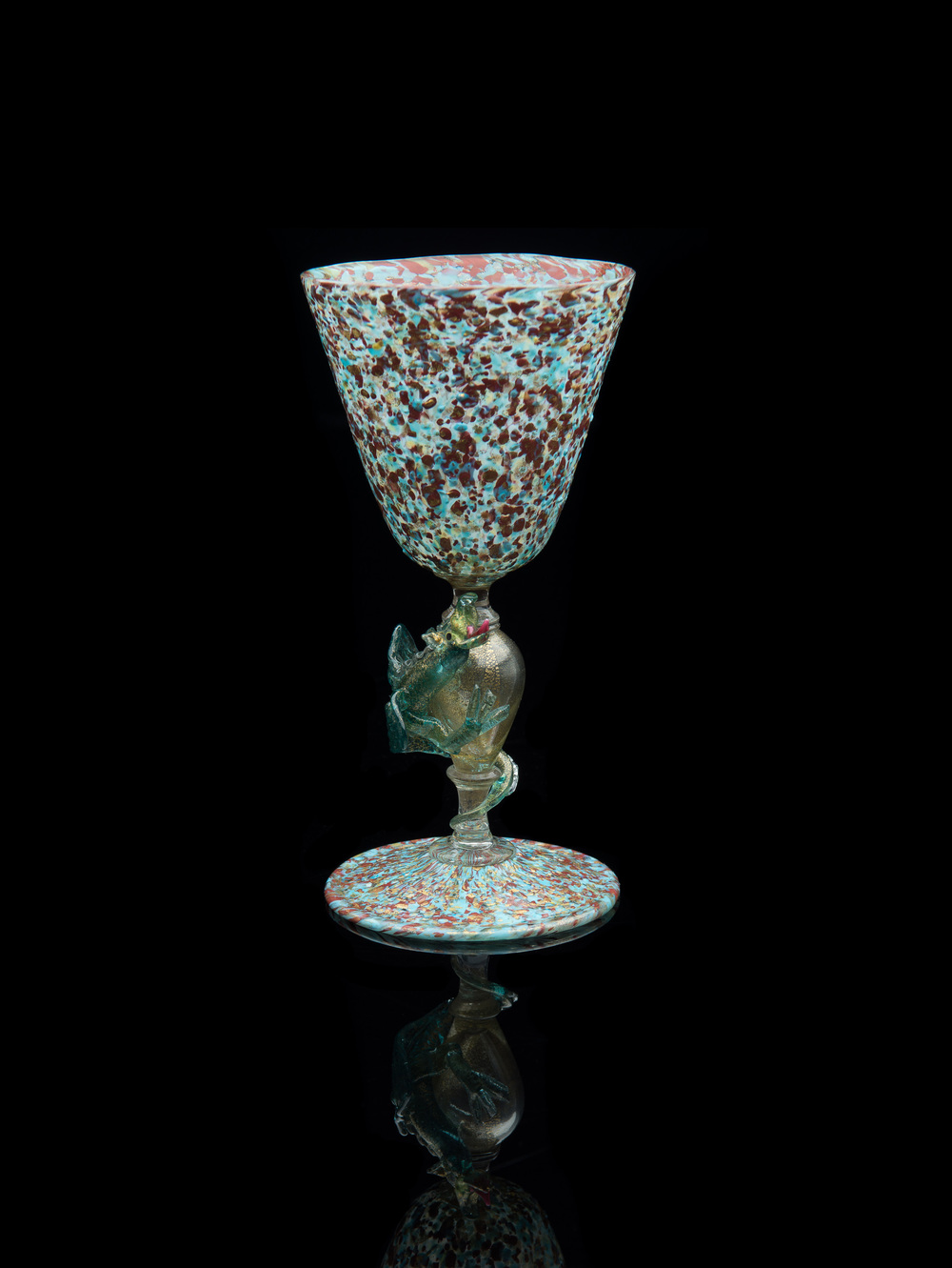 Salviati and Company,  Descreziato Dragon Stem Goblet  (glass), VV.401
