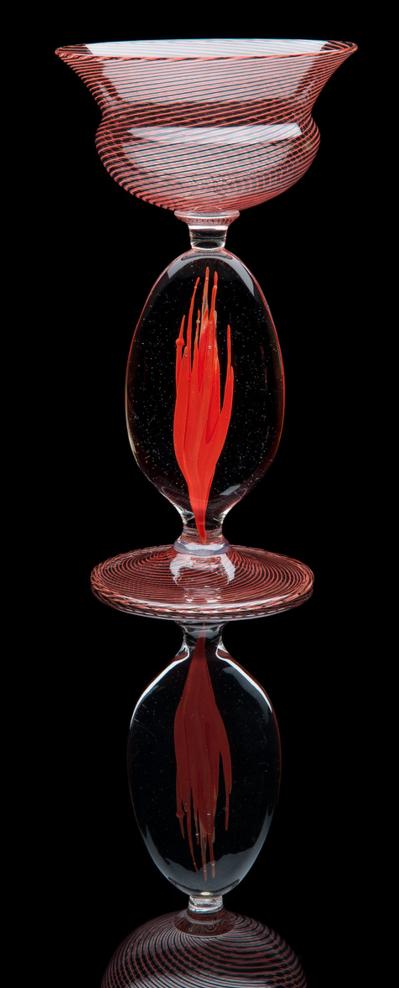 Lino Tagliapietra,  Goblet  (1991-1994, glass, 9 x 5 x 5 inches), LT.94