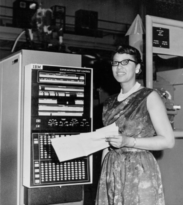 Melba Roy, Computer in Goddard's Trajectory and Geodynamics Division. (NASA Photo)