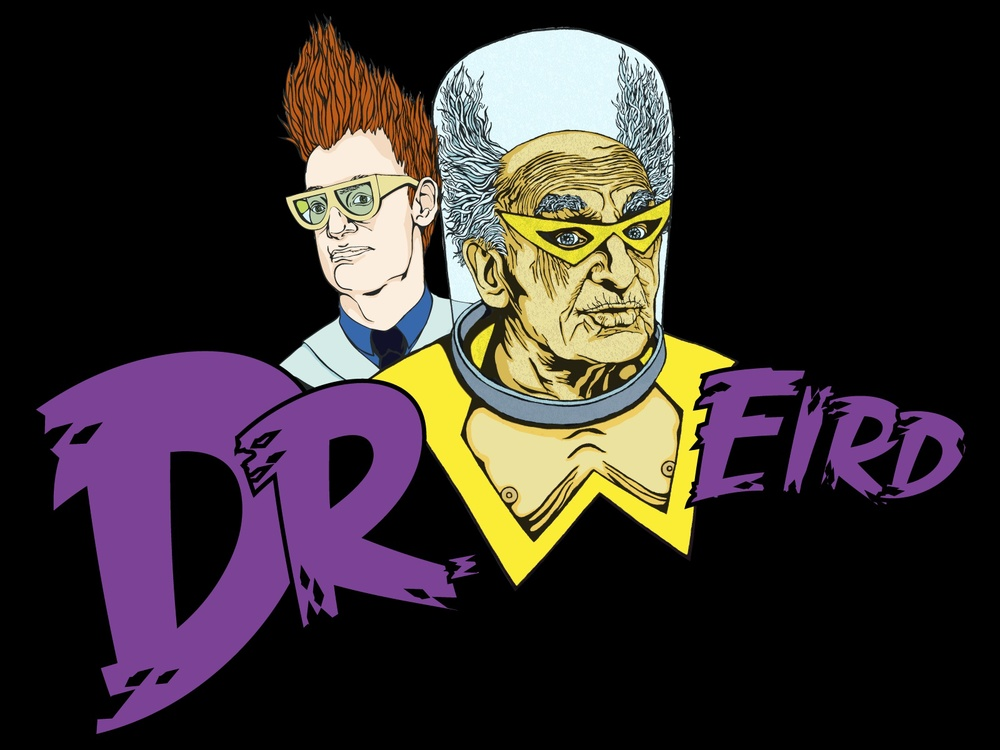 Dr. Weird.  © 2013  Kat Phillips.  Aqua Teen Hunger Force t-shirt design.