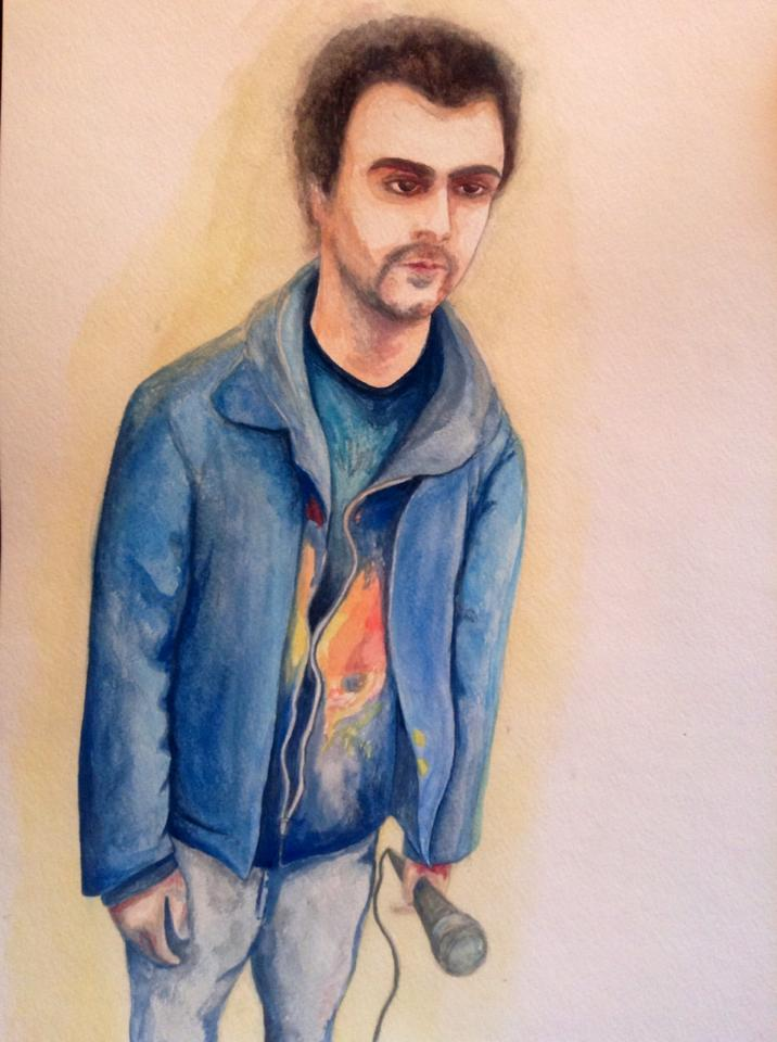 © 2015 Kat Phillips.  Portrait.  Watercolor.