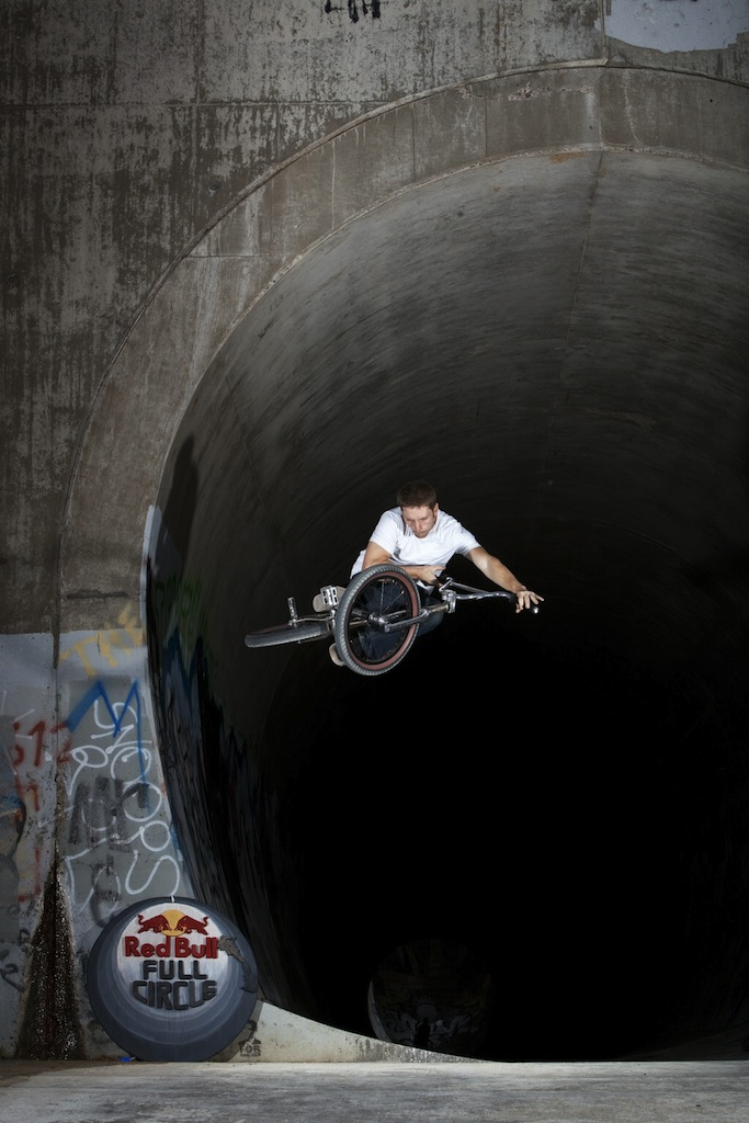 Cameron Wood with a table out of the infamous hell hole on a red bull O's for Outlaw trip.