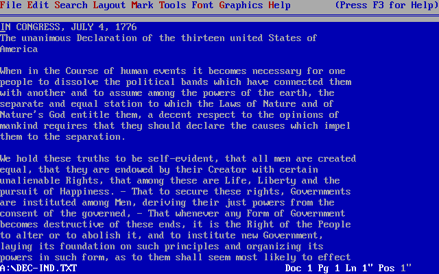 WordPerfect 5.1 for DOS