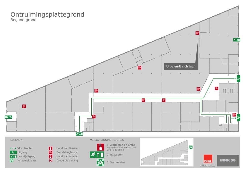 Voorbeeld ontruimingsplattegrond.Klik om te downloaden.