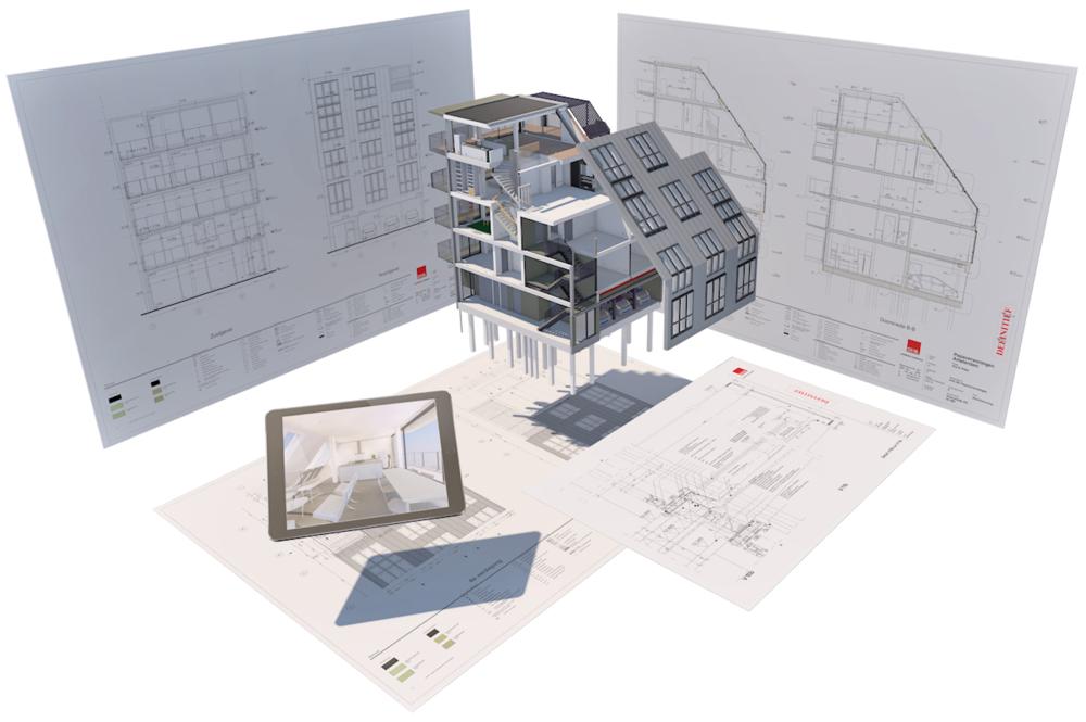 Building Information Model (BIM) van een van onze projecten